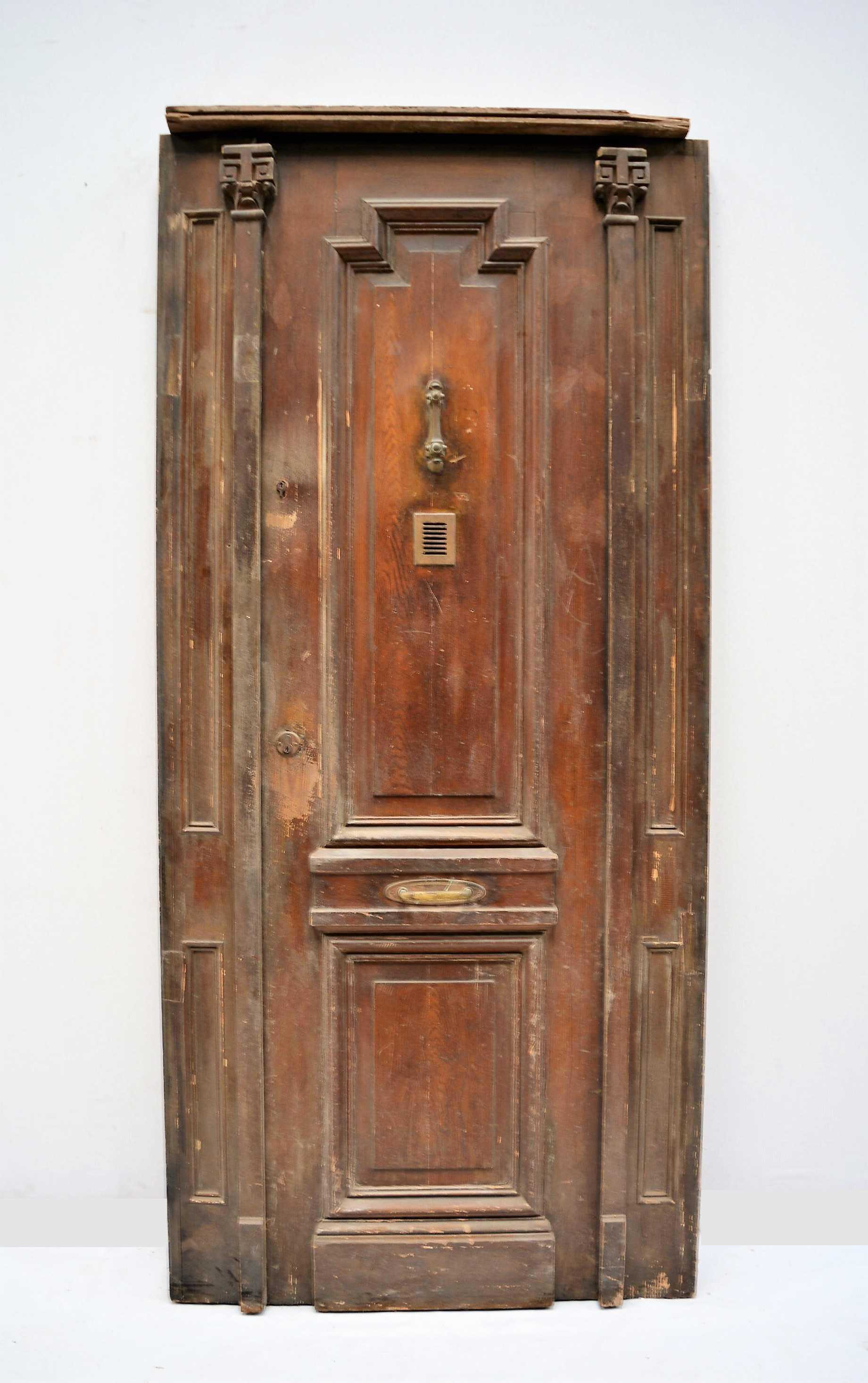 Puerta de madera triple for Demoliciones puertas antiguas