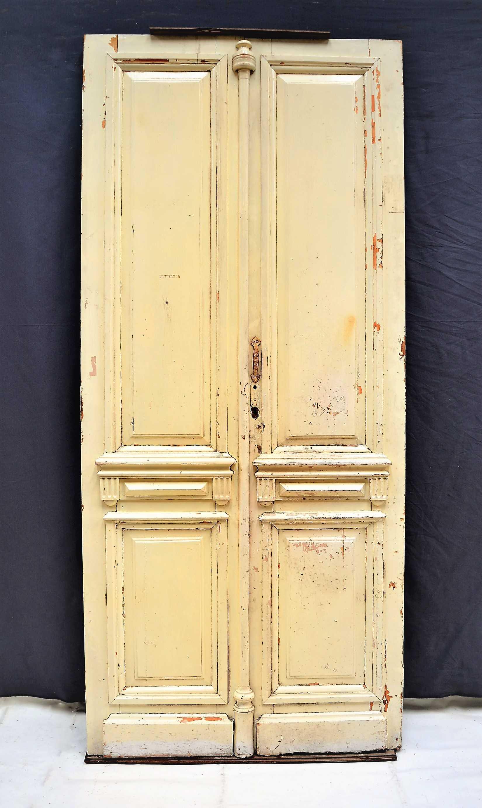 Puerta de madera blanca doble for Puerta doble madera