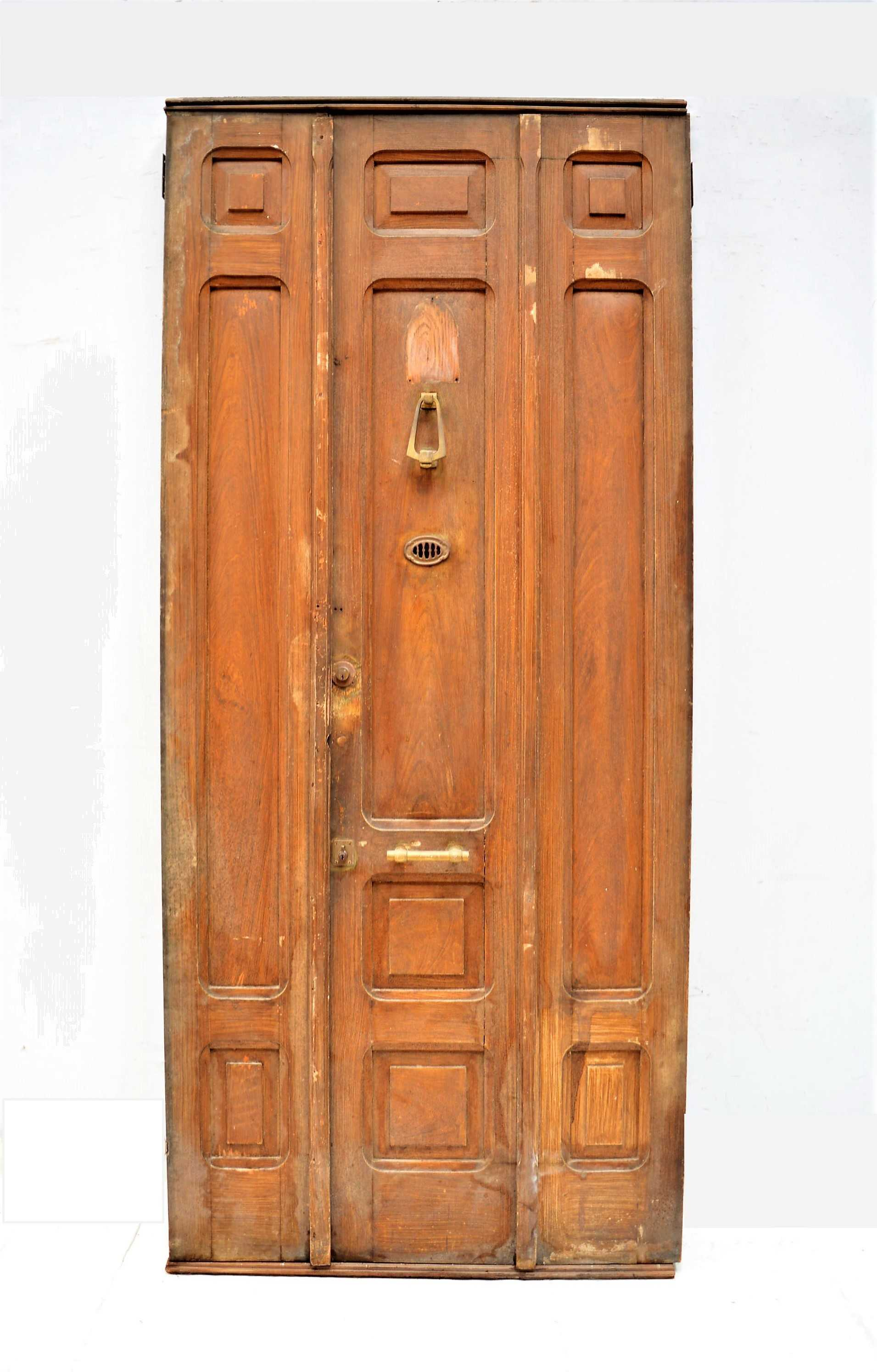 Puerta de madera doble for Puerta doble madera