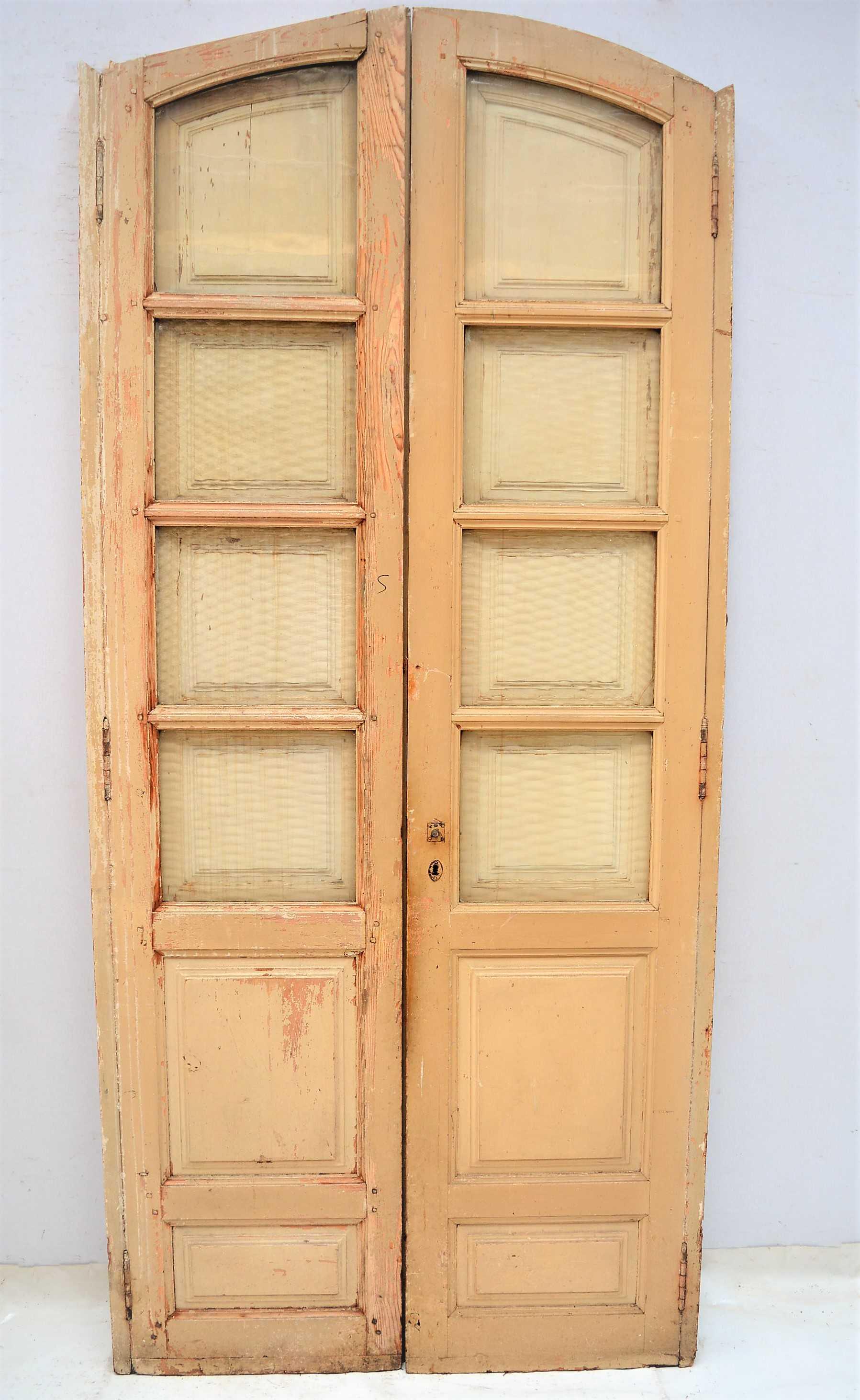 Puerta de madera doble con marco for Puertas dobles de madera