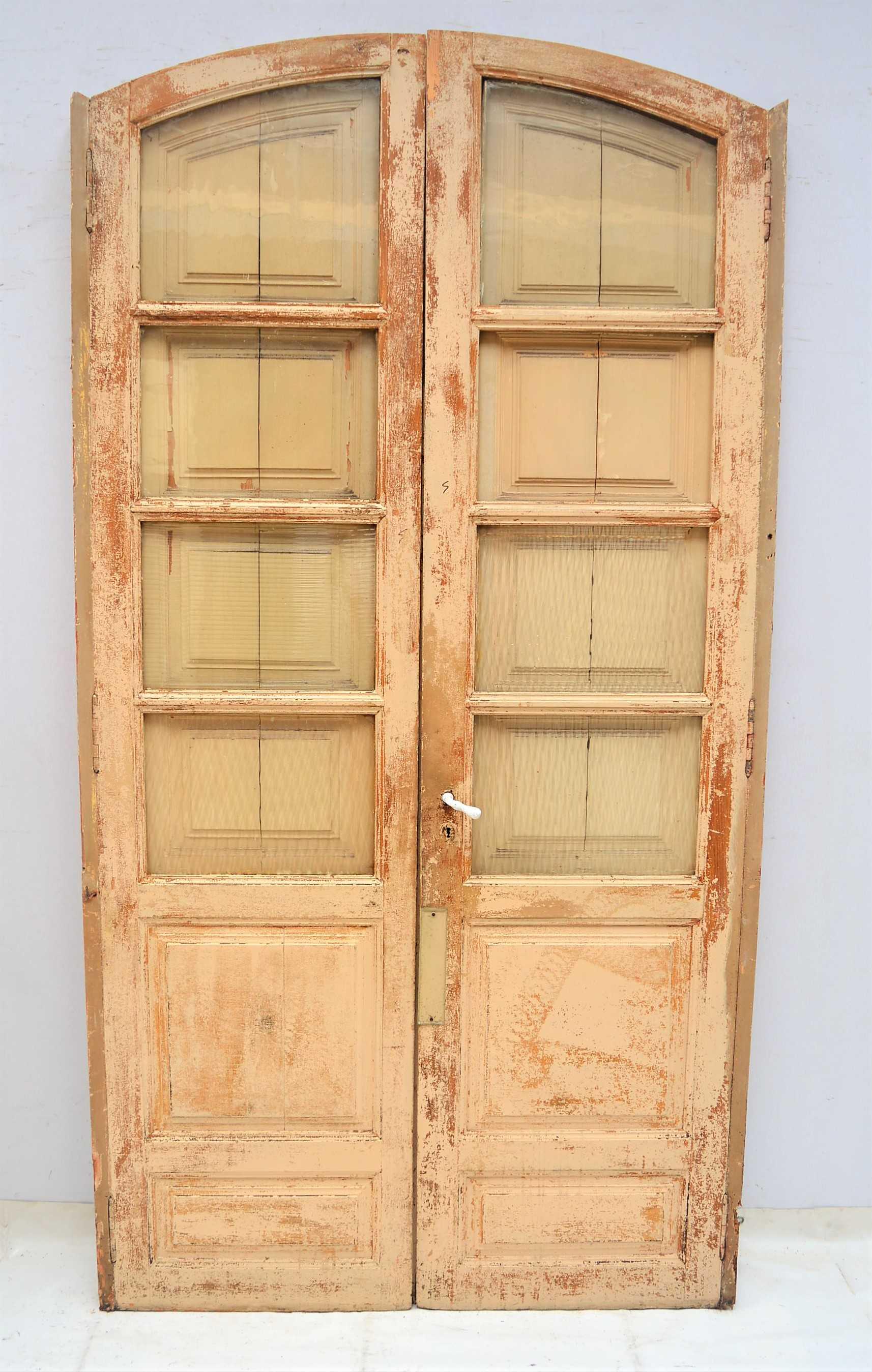 Puerta de madera doble con marco for Puerta doble madera