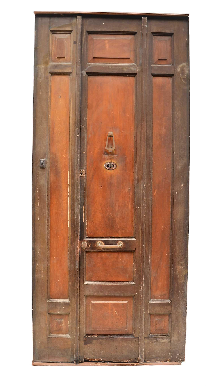 Puerta de madera doble - Puertas de derribos ...