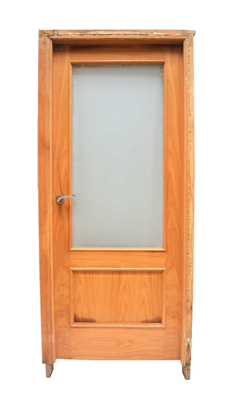 Puerta de madera con cristal y marco - Puertas de madera con cristal ...
